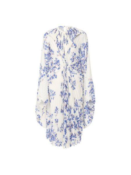 Платье с цветочным принтом плиссированное Vetements