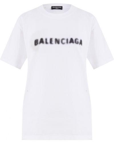 Белый хлопковый топ Balenciaga