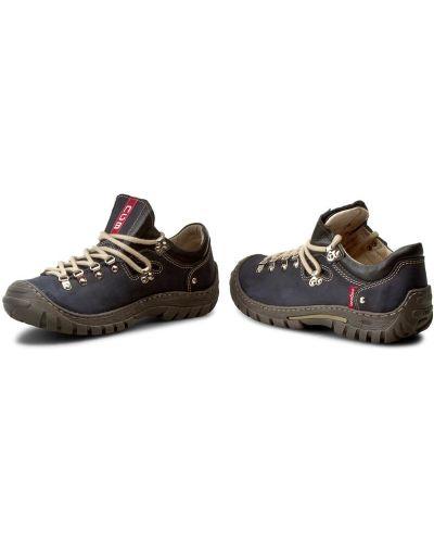 Кожаные ботинки - синие Nagaba