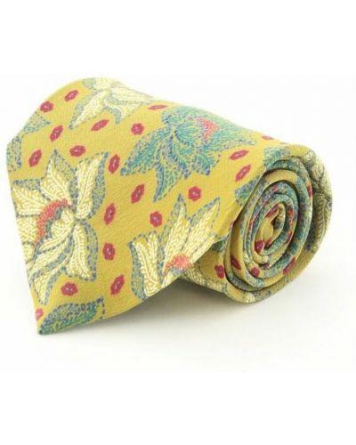 Krawat z jedwabiu - żółty Fendi Vintage