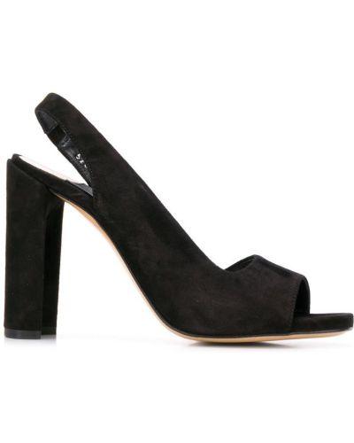 Босоножки на каблуке черные высокие Premiata