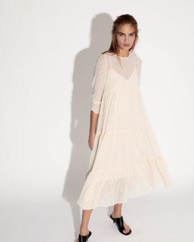 Платье молочное Zara
