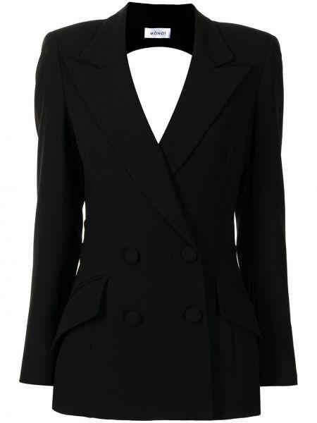 Пиджак с открытой спиной - черный Mônot