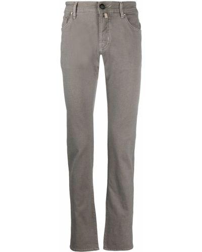 Серые джинсы-скинни с низкой посадкой с вышивкой Jacob Cohen