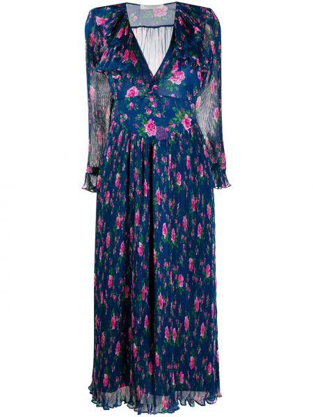 Платье розовое с цветочным принтом Philosophy Di Lorenzo Serafini