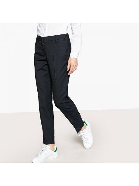 Черные брюки с воротником с поясом из вискозы Sud Express
