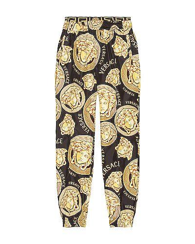 Черные палаццо с манжетами с карманами Versace