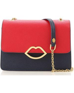 Czerwona torebka skórzana Lulu Guinness