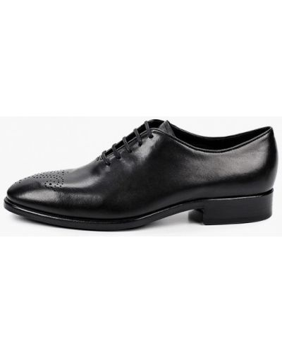 Черные кожаные туфли Ecco