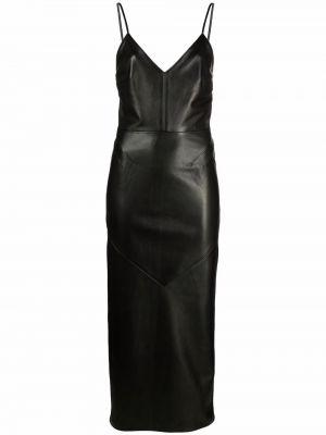 Черное приталенное платье Manokhi