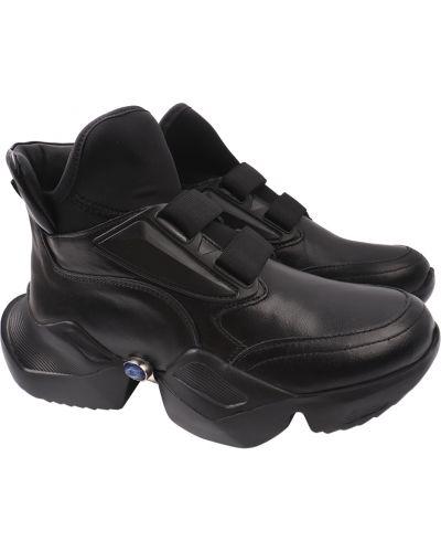 Кожаные кроссовки - черные Molly Bessa