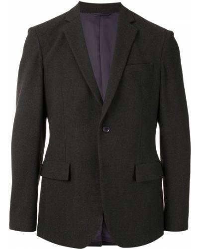 Классический однобортный черный классический пиджак на пуговицах D'urban
