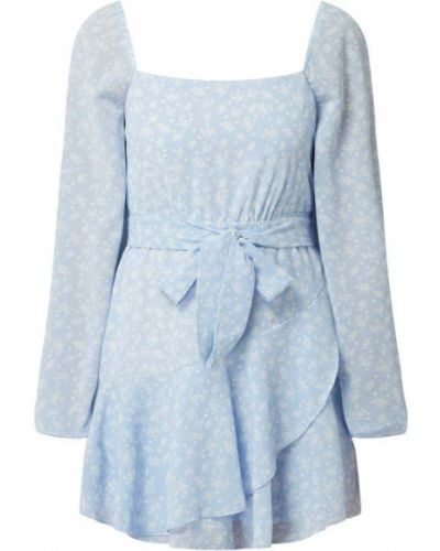 Niebieska spódnica mini z falbanami rozkloszowana Na-kd