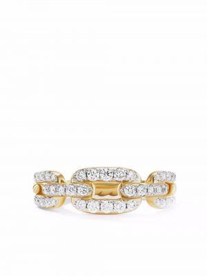 Żółty pierścionek z diamentem David Yurman