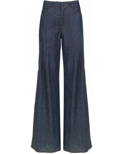 Джинсовые широкие джинсы - синие Tufi Duek
