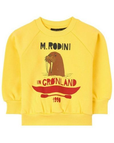 Żółta bluza dresowa Mini Rodini