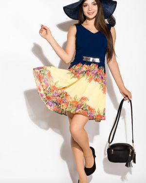 Платье свободного кроя - желтое Time Of Style