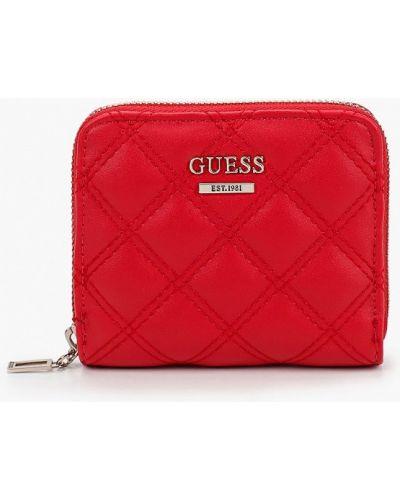 Красный кожаный кошелек Guess