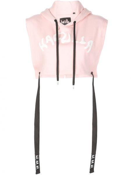 Розовое худи без рукавов Haculla
