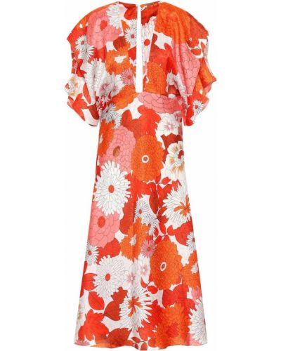 Платье с цветочным принтом шелковое Dodo Bar Or