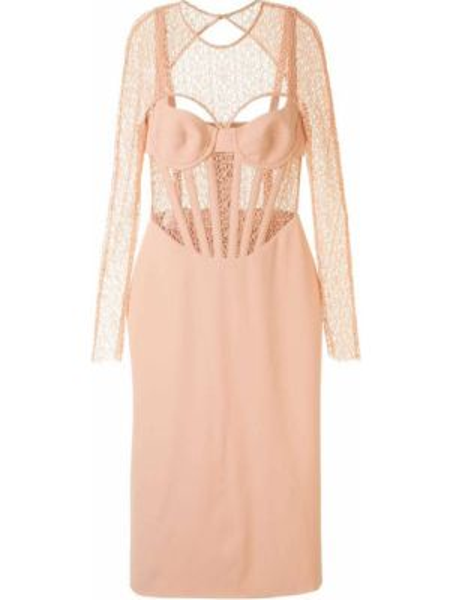 Платье с поясом футляр с открытой спиной Dion Lee