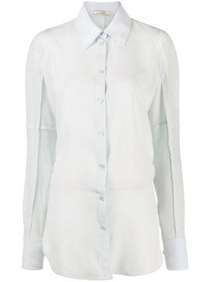 Синяя рубашка с длинными рукавами с воротником Nina Ricci