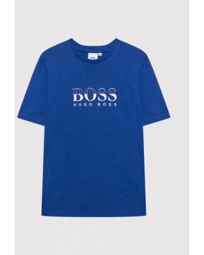 T-shirt - niebieska Boss
