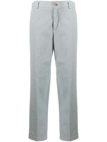 Хлопковые серые укороченные брюки с карманами Forte Forte