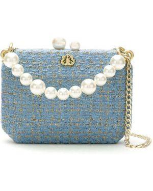 Синяя сумка на плечо с декоративной отделкой с подкладкой Isla