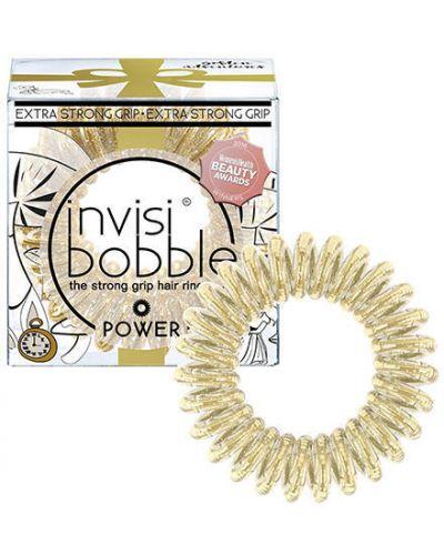 Золотой браслет на резинке спортивный Invisibobble
