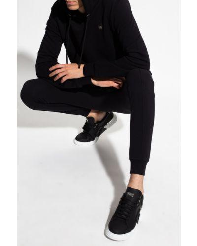 Czarna bluza sportowa z długimi rękawami Philipp Plein