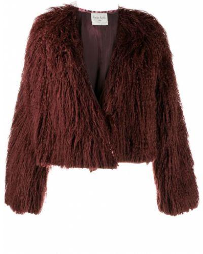 Красная длинная куртка Forte Forte