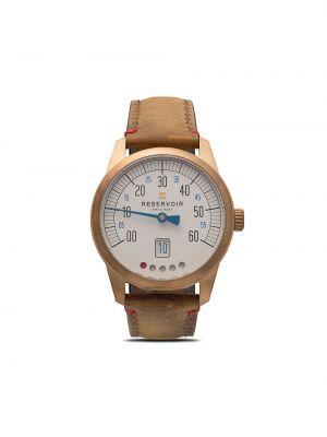 Zegarek na skórzanym pasku skórzany - biały Reservoir