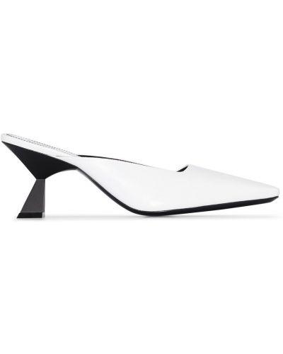 Biały muły na pięcie z prawdziwej skóry Givenchy