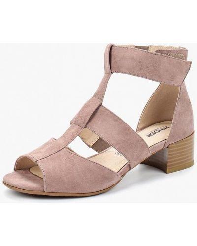 Розовые босоножки на каблуке Zenden Collection