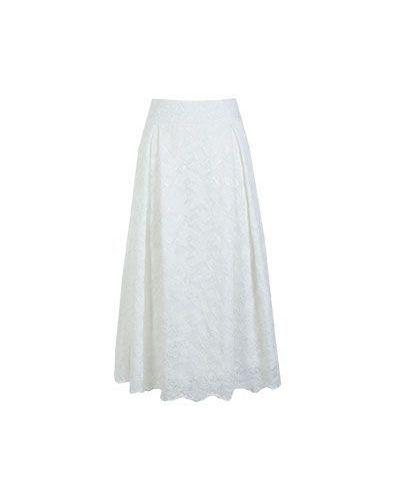 Хлопковая белая юбка Vuall