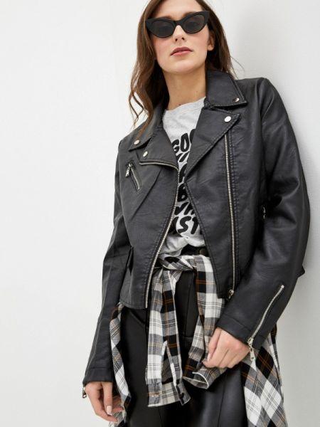 Кожаная куртка - черная Pink Woman