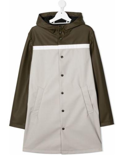 Płaszcz przeciwdeszczowy - zielony Moncler Enfant