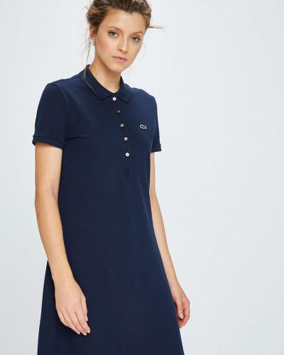 Платье мини короткое - синее Lacoste