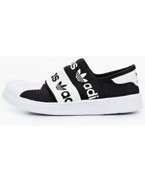 Мокасины черный текстильные Adidas Originals
