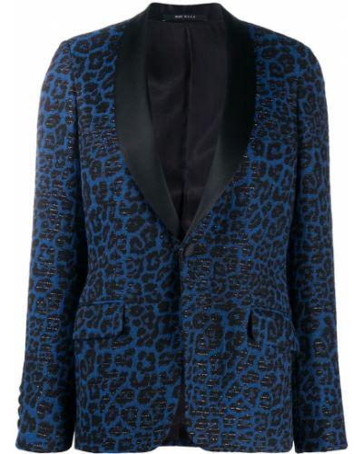 Шелковый черный удлиненный пиджак с подкладкой R13
