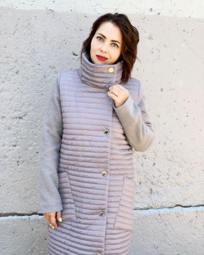 Кашемировое пальто - серое Khan