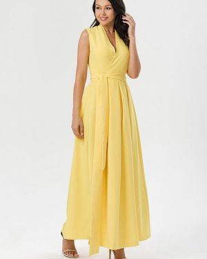 Вечернее платье осеннее желтый Pavesa