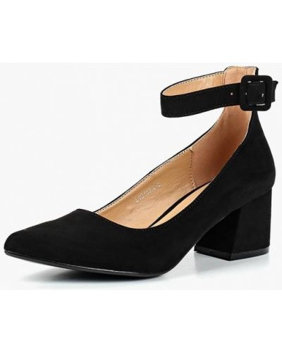 Туфли на каблуке с застежкой на лодыжке замшевые Tulipano