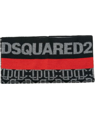 Czarny szalik Dsquared2