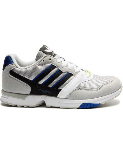Замшевые серые кроссовки со вставками Adidas