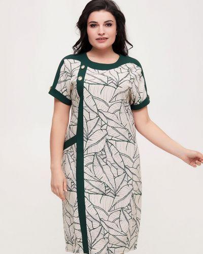 Льняное платье - зеленое All Posa