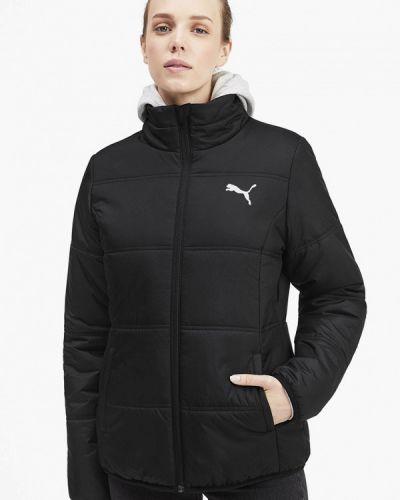Утепленная куртка осенняя черная Puma
