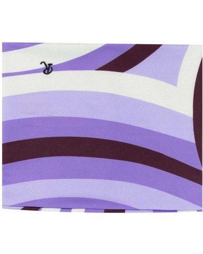 Fioletowy szalik w paski z printem Raf Simons