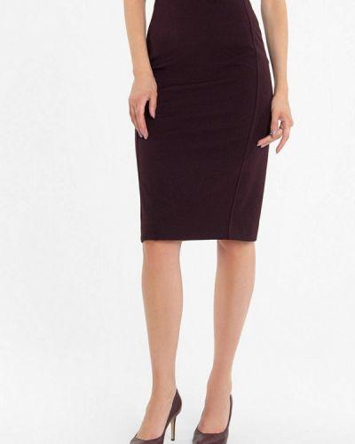 Бордовая юбка узкого кроя Lo